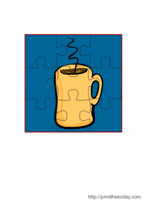 Coffee Mug Jigsaw Puzzle Printable