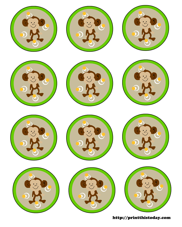 photograph regarding Free Printable Baby Shower Labels named Cost-free Printable Labels (Jungle themed Boy or girl Shower)