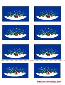 Free Labels templates for winter