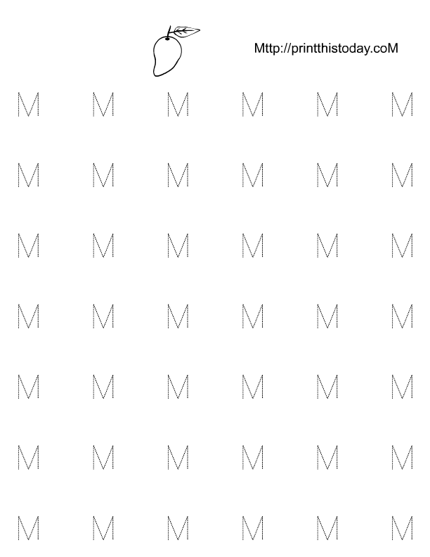 letter tracing worksheets for kindergarten
