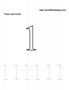 Free Kindergarten Math worksheet, number one