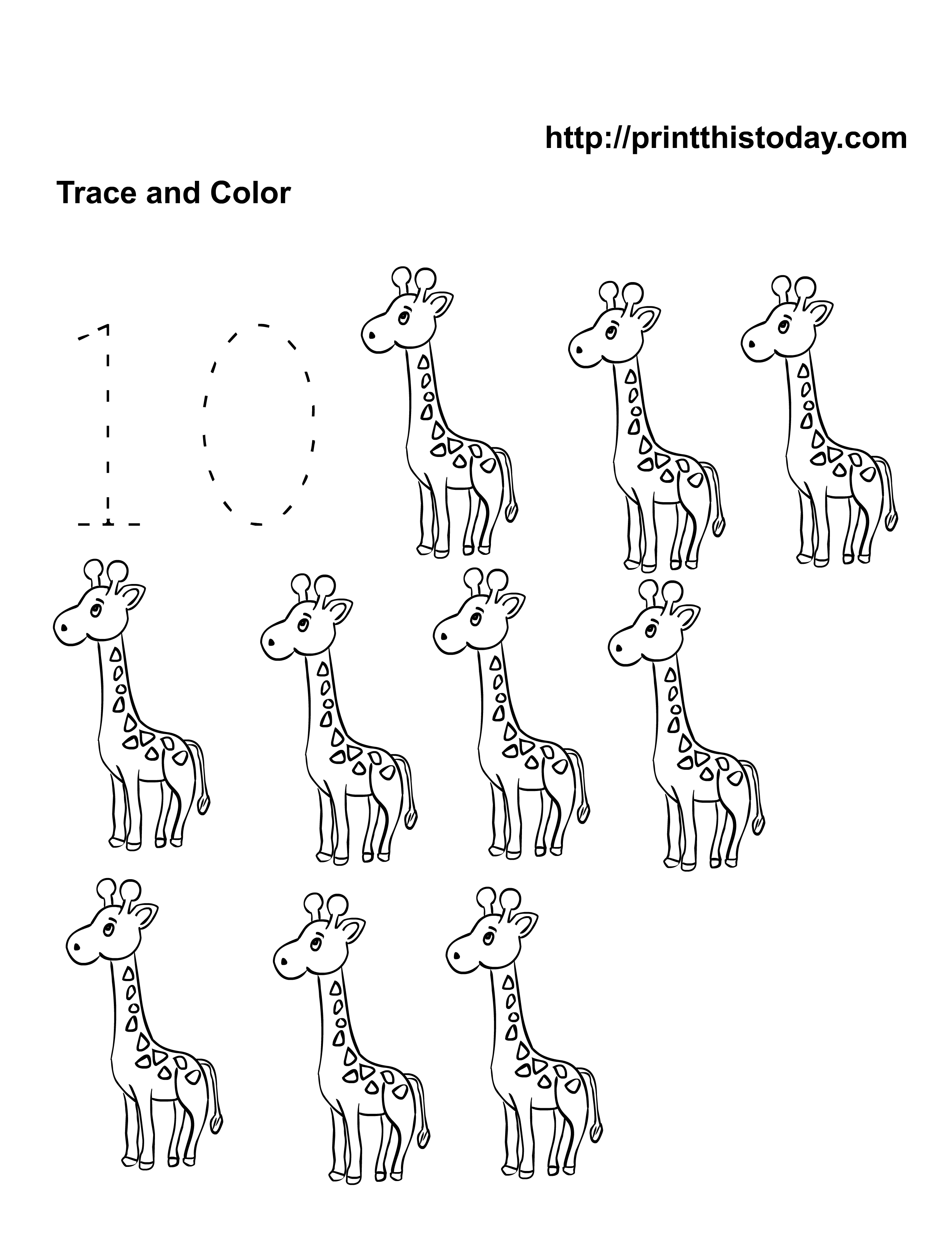 Free Kindergarten Math Worksheets Number Ten 10