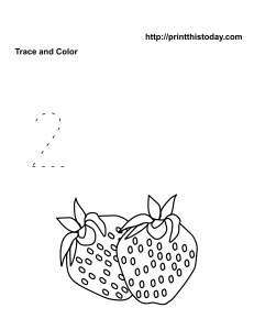 Free Number two math worksheet