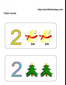 Number 2 Math flashcards