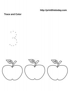 Number 3 free math worksheet