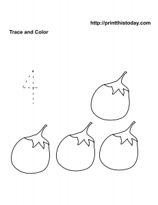 number four math worksheet for pre school