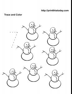 Free number seven kindergarten Math worksheet