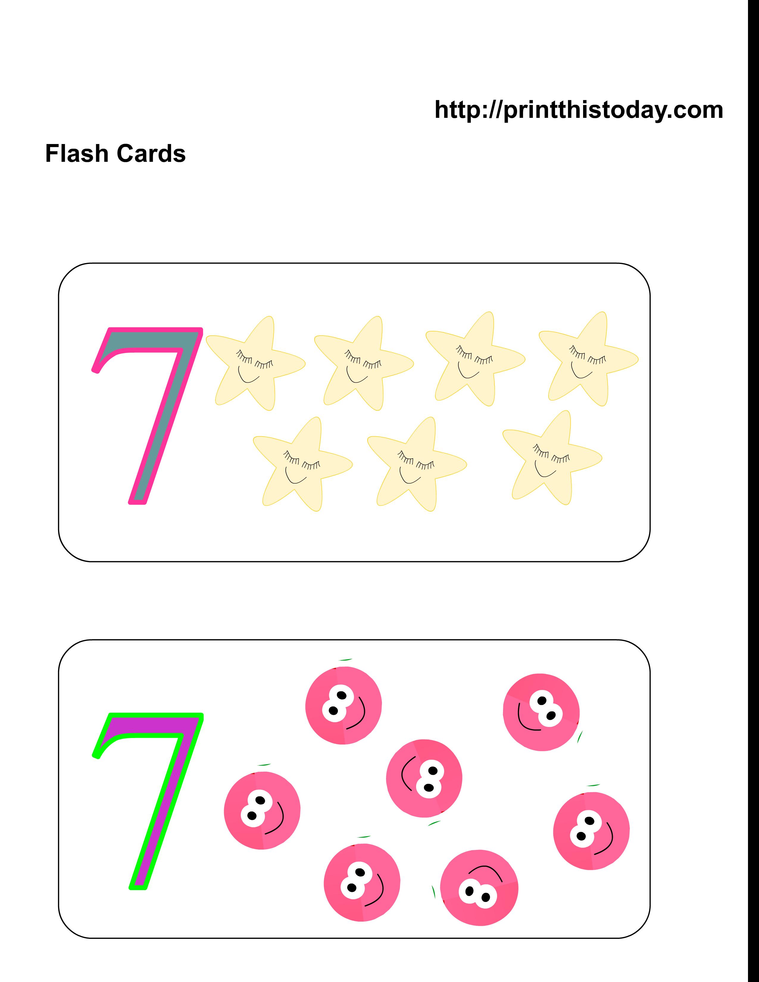 Free Printable Kindergarten Math FlashCards