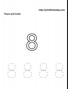 Free printable number 8 kindergarten math worksheet