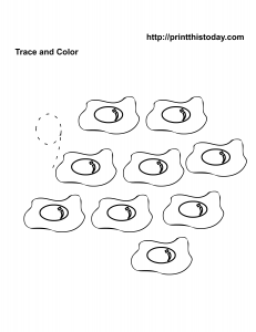 free number 9 kindergarten math worksheet