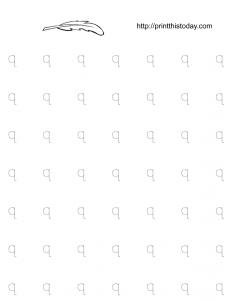 free printable kindergarten tracing worksheet