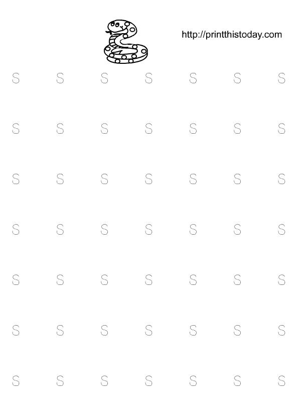 math worksheet : free printable alphabet tracing worksheets for kindergarten : S Worksheets For Kindergarten