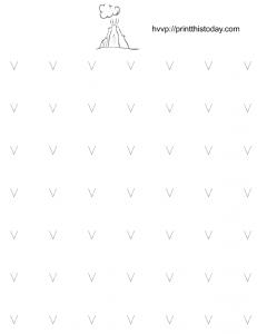 free printable tracing worksheet