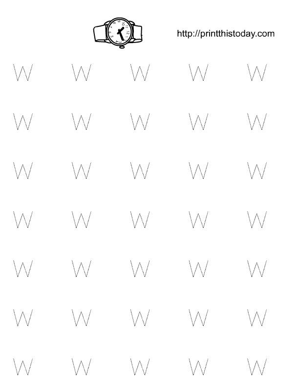 Free Printable Alphabet W Tracing worksheets – W Worksheets for Kindergarten