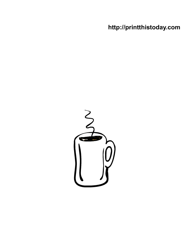 Free printable winter coloring pages for Hot chocolate mug coloring page