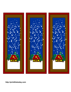Free printable winter bookmarks