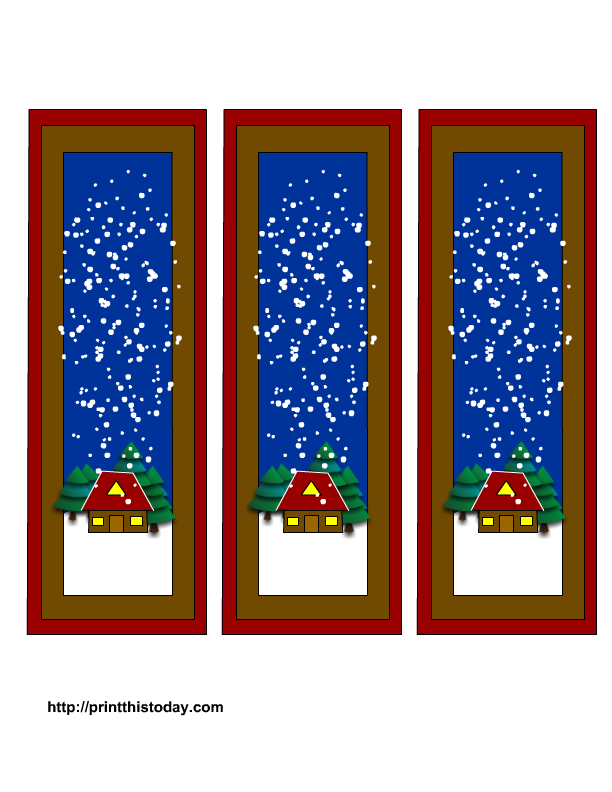 Free Winter Bookmarks Printable Templates