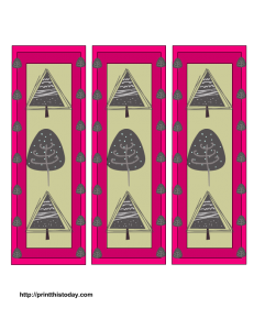 Free Printable winter tree bookmarks