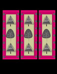 Free Printable winter tree bookmarks