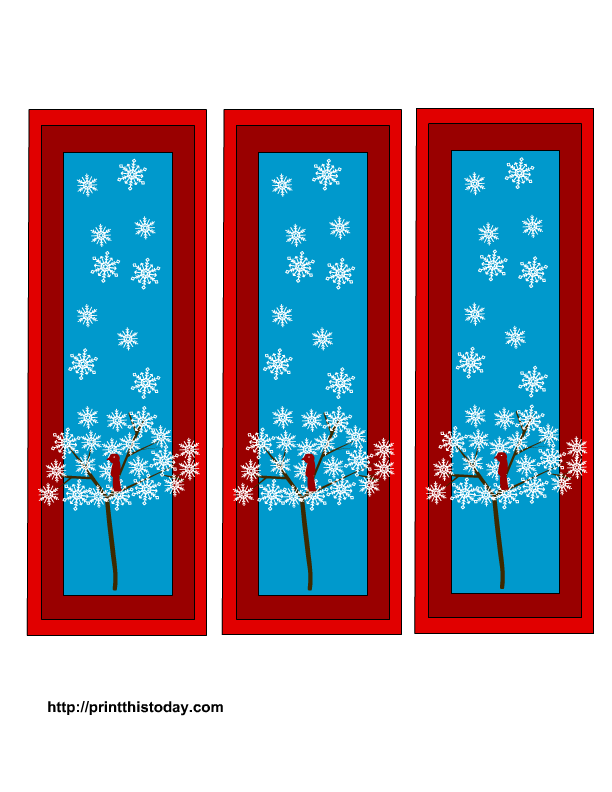 Free Winter Bookmarks Printable