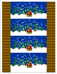 Free printable winter candy wrappers