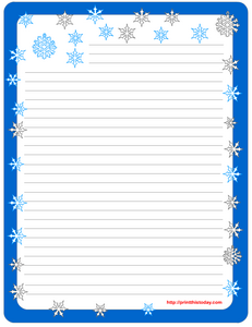 Free Printable winter Stationery