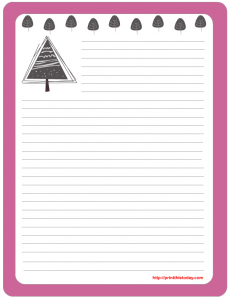 Free printable note pad writing paper