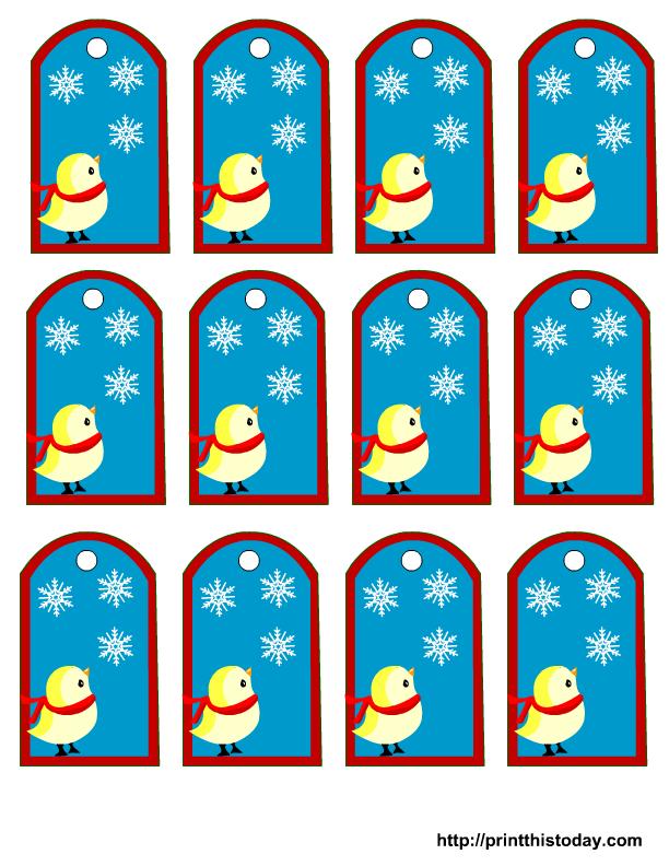 Free printable winter favor tags
