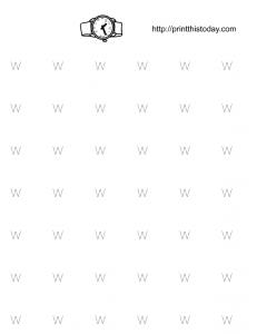 free printable alphabet w tracing worksheet