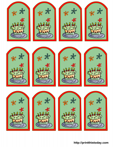 Colorful Birthday Party Favor Tags
