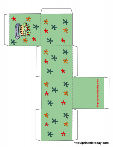 birthday paper craft box template