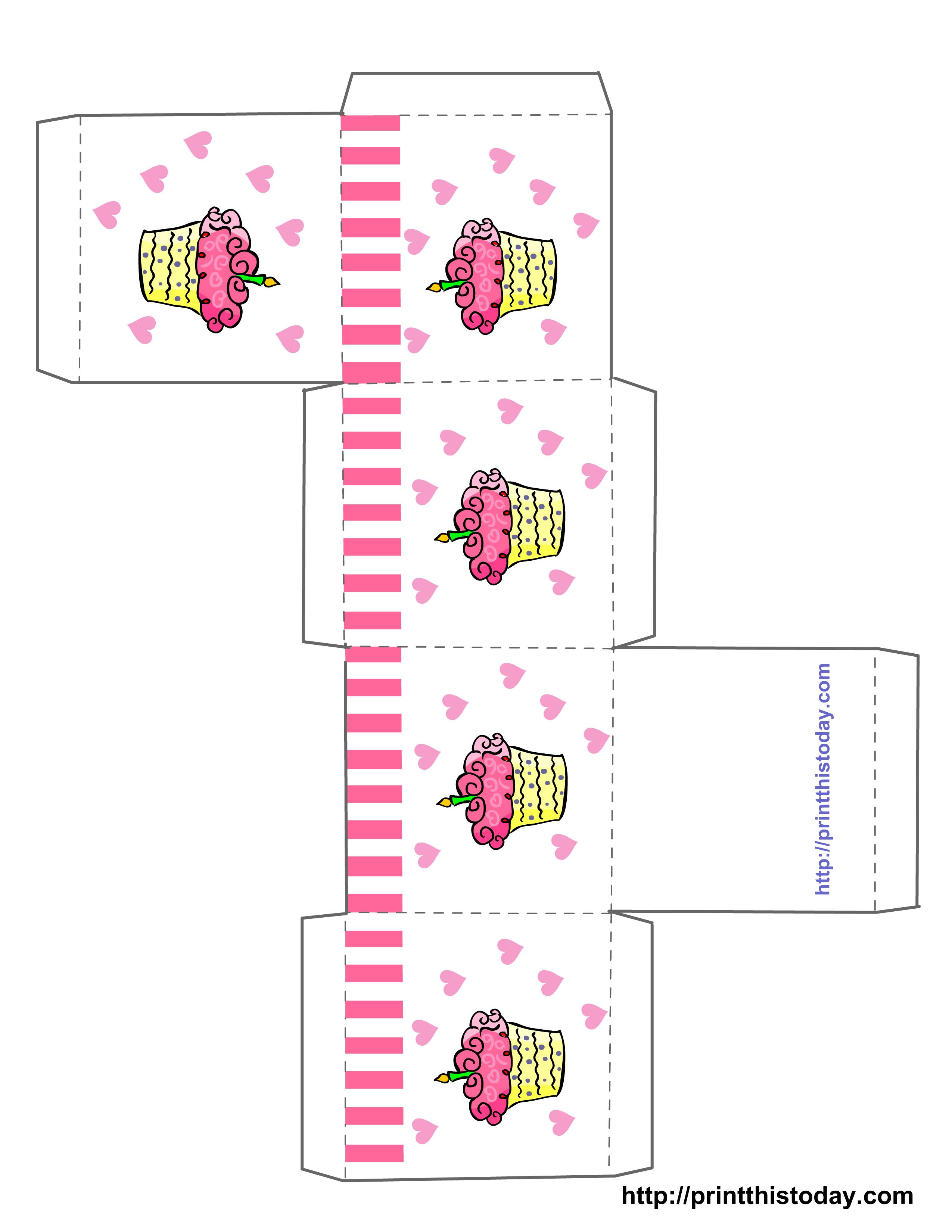 Free Birthday Templates To Print ~ Free printable birthday favor boxes templates