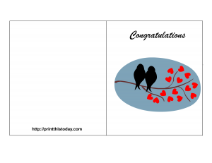 free printable wedding congratulation card