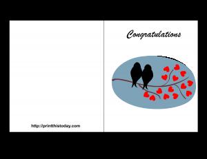 free printable wedding congratulation card