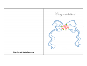 free printable congratulations on wedding card