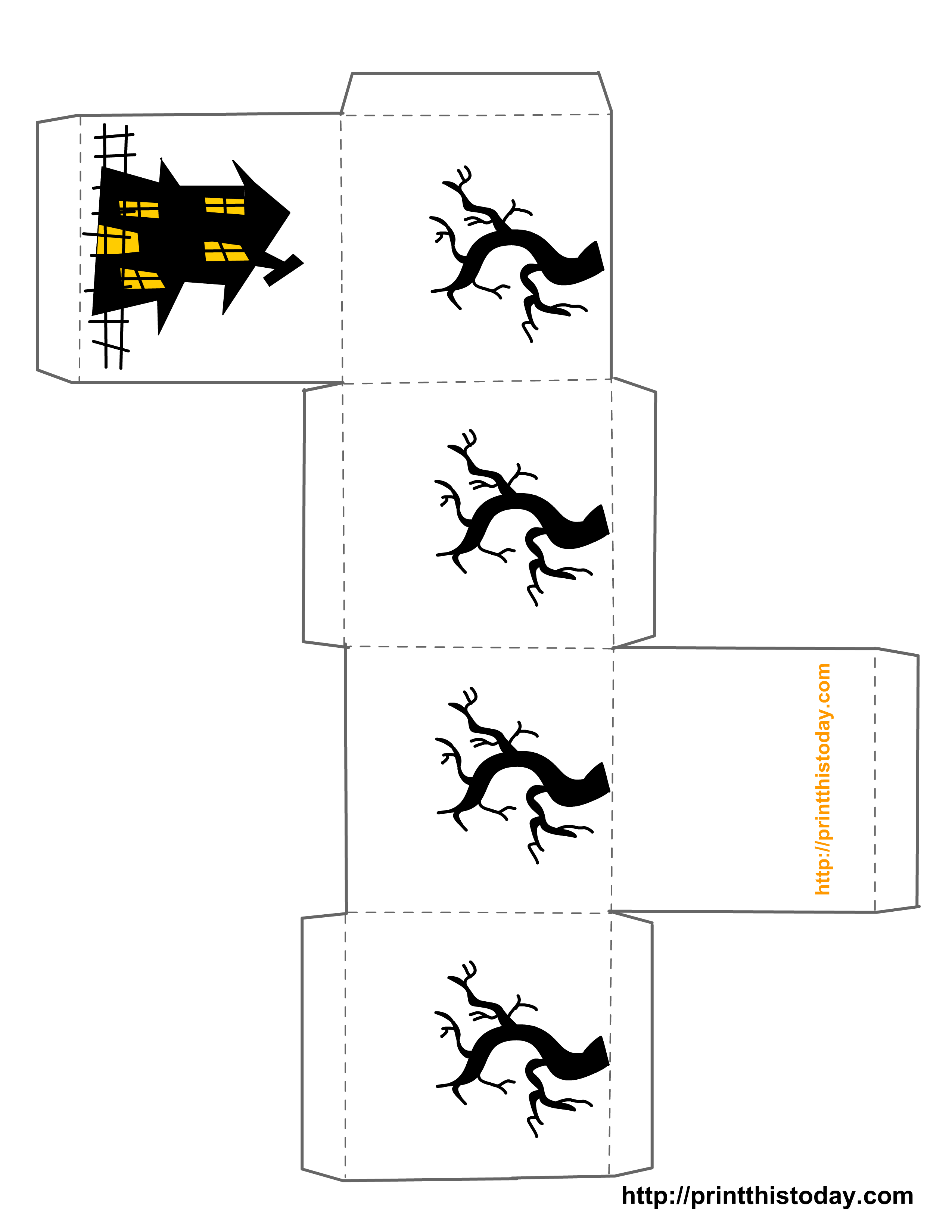 Halloween Trick Or Treat Box Template