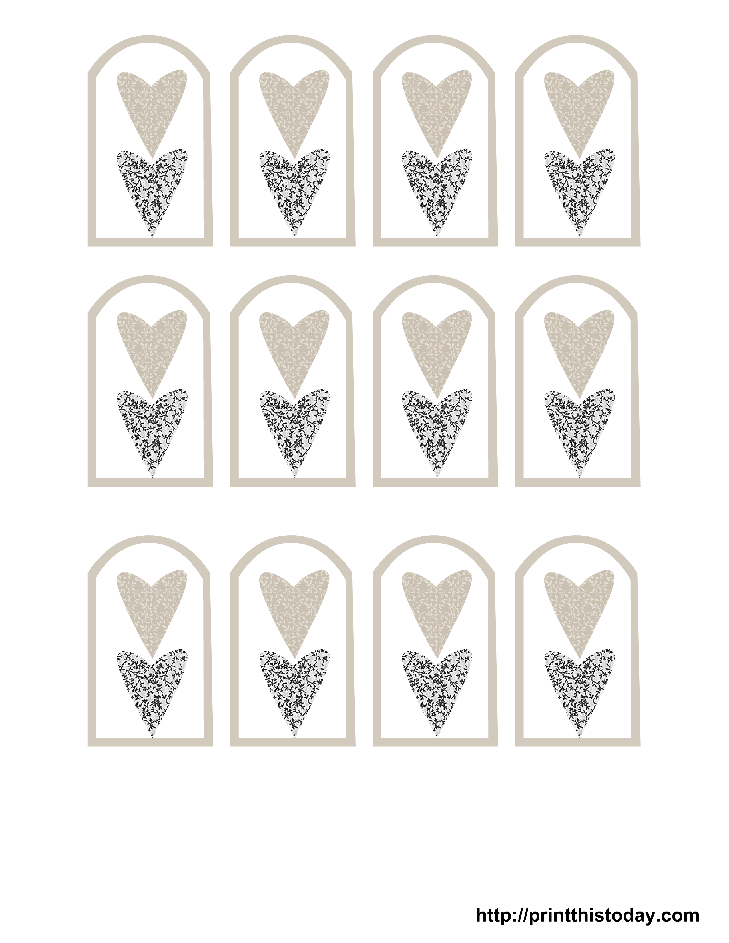 Favor Tags Templates For Wedding
