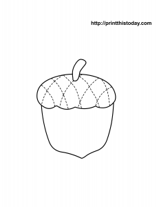 free printable Acorn autumn coloring page