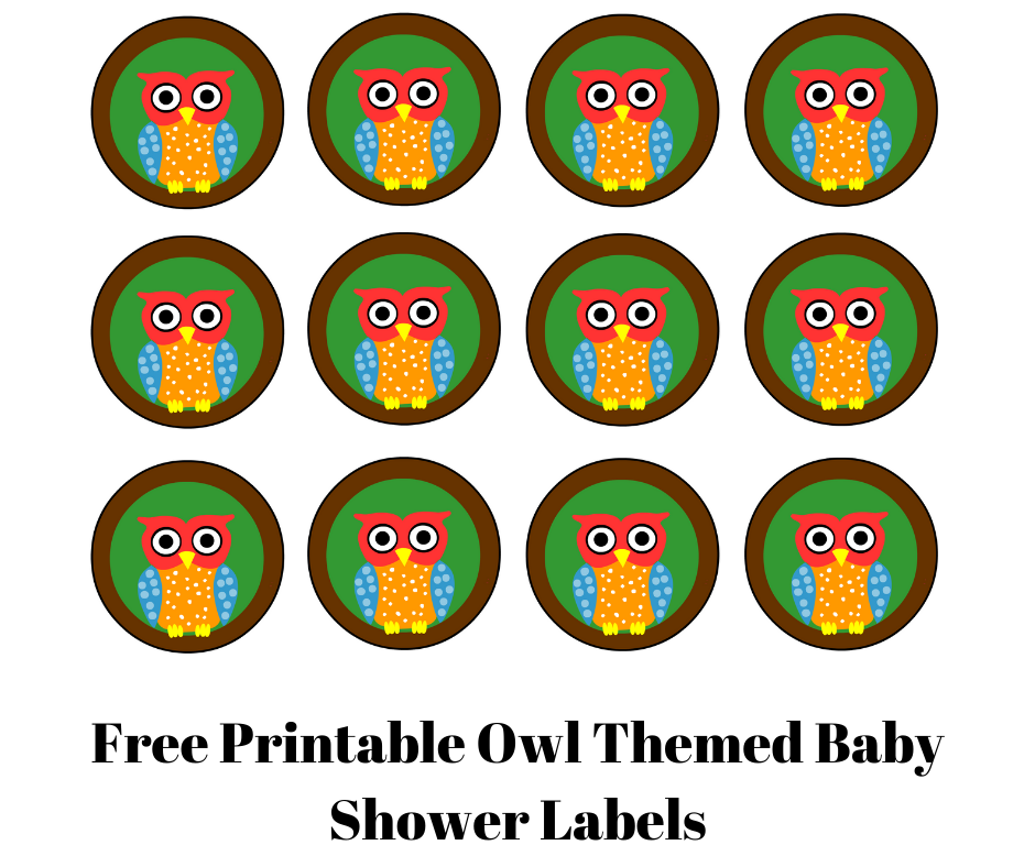 Free Printable Owl Themed Baby Shower Labels