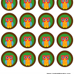 owl baby shower favor decoration labels