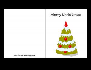 Free printable Christmas Card with Christmas Tree