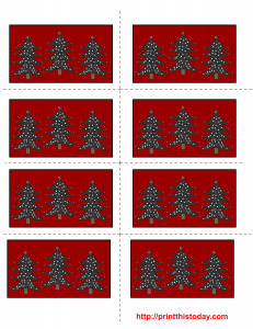 free printable christmas labels with christmas trees