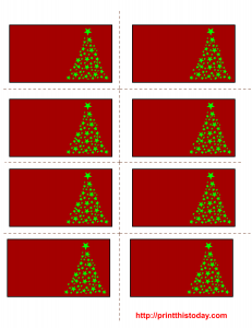 Free printable labels template for Christmas