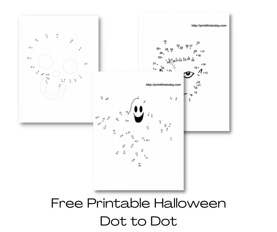 Halloween dot to dot ( Free Printable )