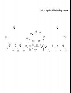 free printable Halloween dot to dot 1-30
