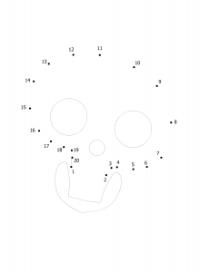 Free printable Halloween dot to dot 1-20