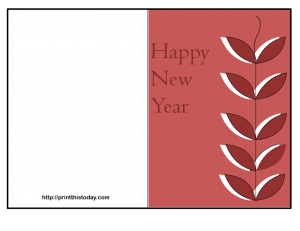 free and elegant new year card