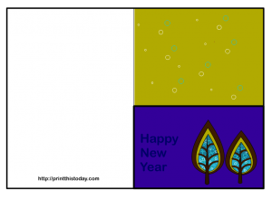 Happy New year Card with Trees