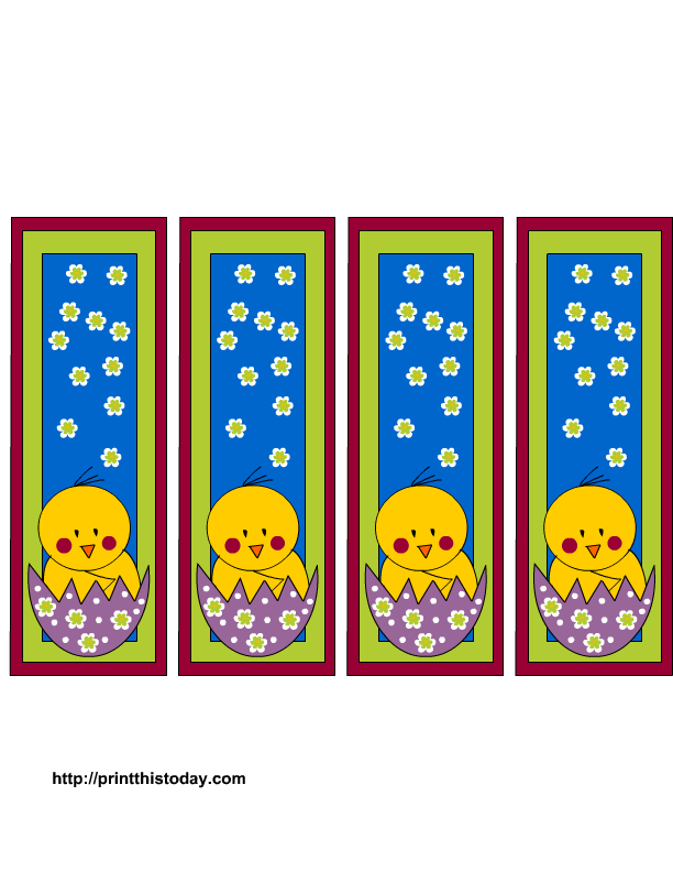 More Easter Bookmarks