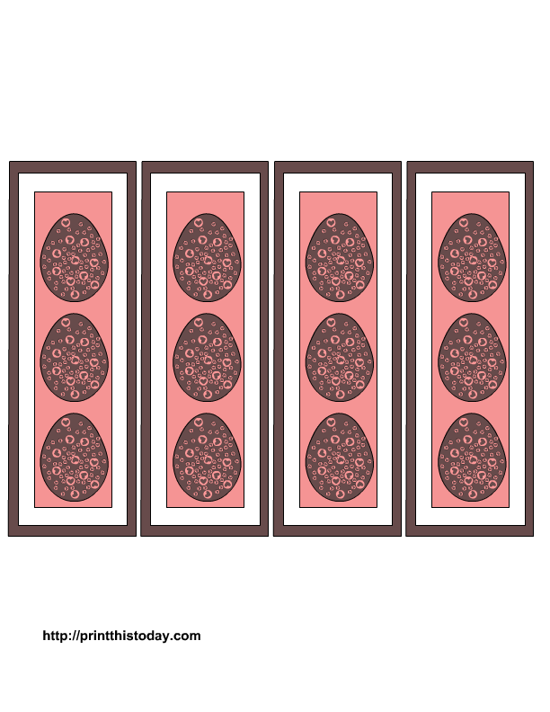 More Free Printable Easter Bookmarks